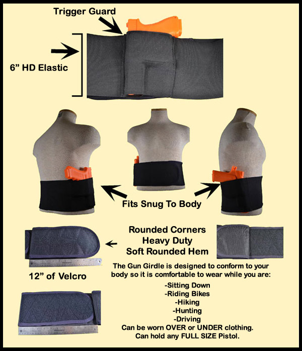 Gun Girdle, Belly Band Holster, Texas Gun Girdle, Concealed Carry Holster