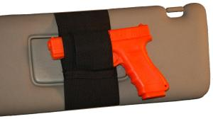 Car Visor Wrap. Fits Any Car Visor. Small or Med/Large Guns. Price is: $45.00